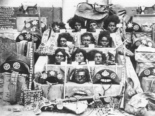 As cabeças dos cangaçeiros do grupo de Lampião, 1938.