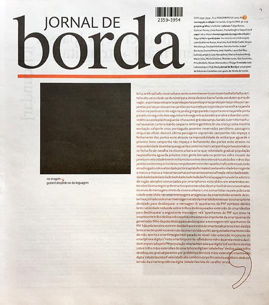 Jornal de Borda #2, 2015.